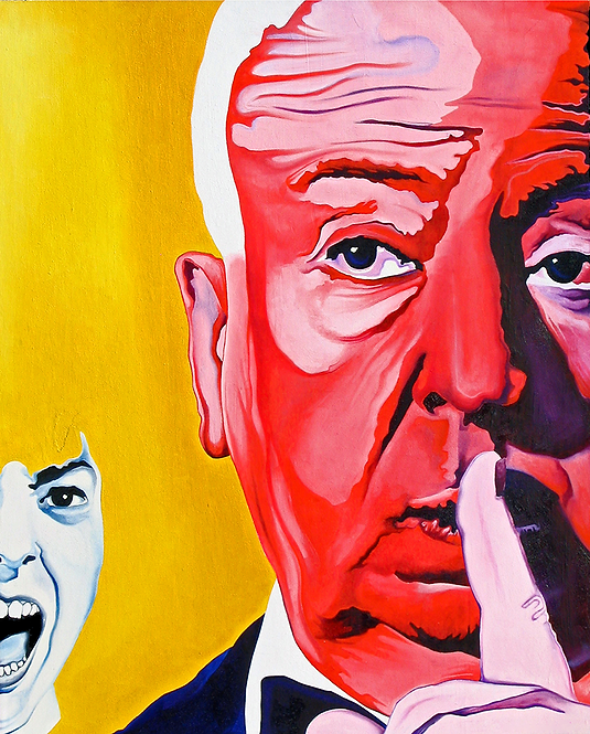 Alfred Hitchcock Painting