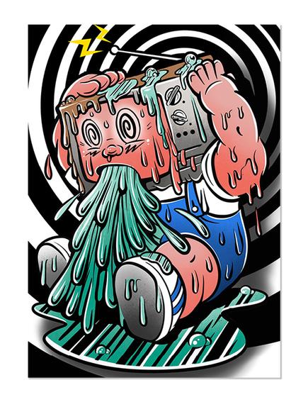GPK TeeVee Stevie Skate Card