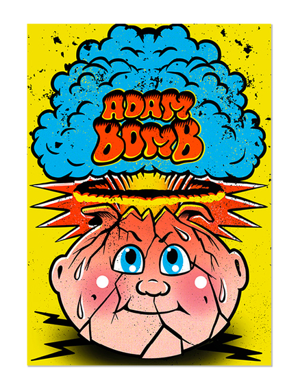 GPK Adam Bomb Skateboard Card