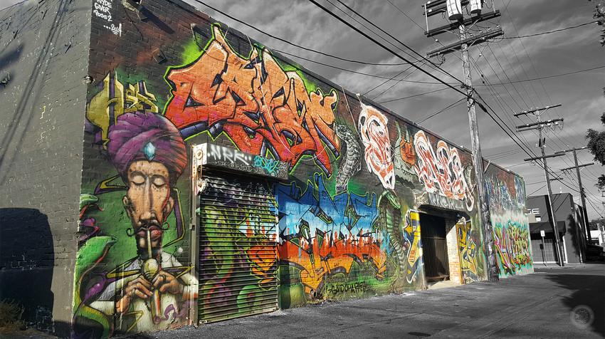 Melrose Alley Graffiti Los Angeles.