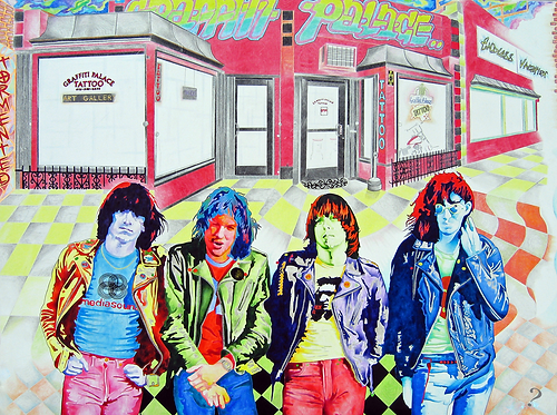 Endless Vacation Ramones Painting