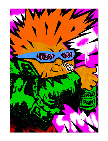 GPK New Wave Dave Skate Card