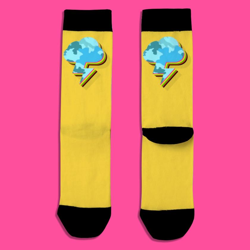 🌩️ Lightning Strikes Back Socks Gold
