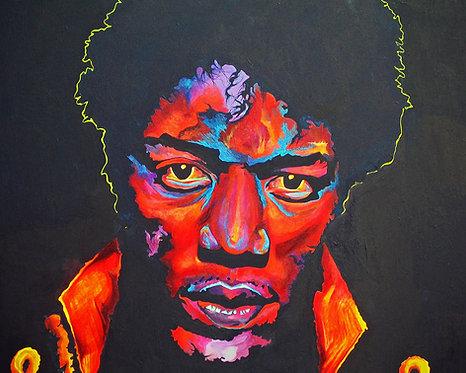 Original Jimi Hendrix Painting  | SOLD