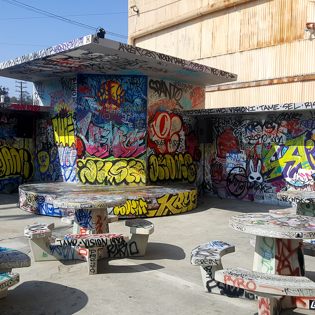 The Old Venice Pavilion Recreation at the Beyond the Streets Graffiti Exhibition Los Angeles 2018