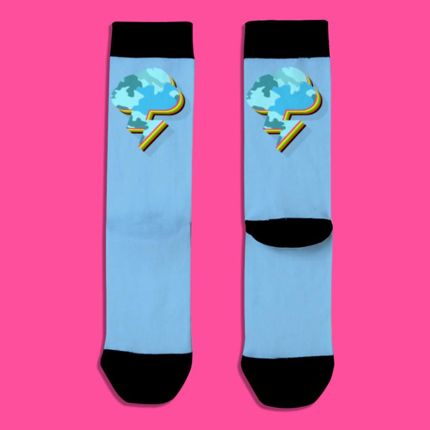 🌩️ Lightning Strikes Back Socks Blue