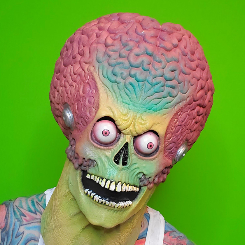 Green-Screen Mars Attacks Mask