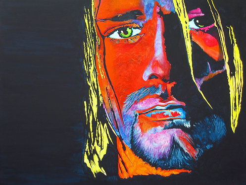 Acrylic Kurt Cobain Painting