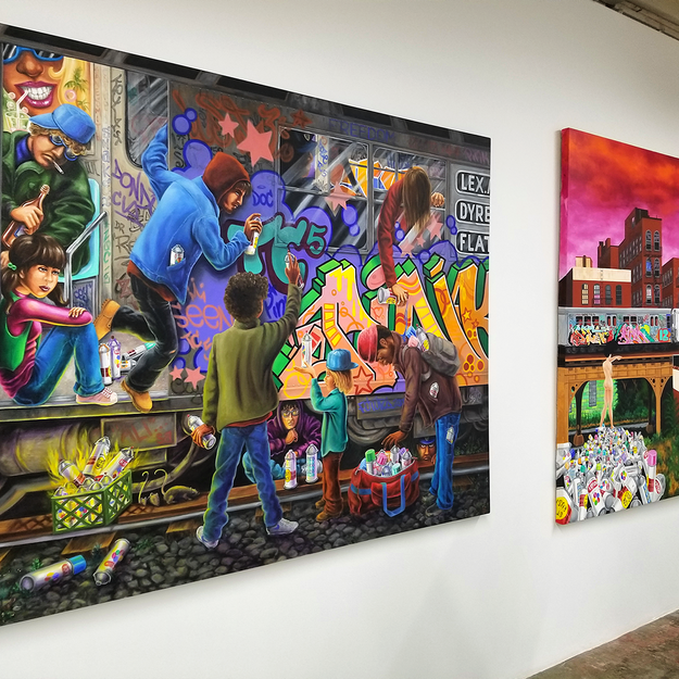 Lady Pink at the Beyond the Streets Graffiti Exhibition Los Angeles 2018