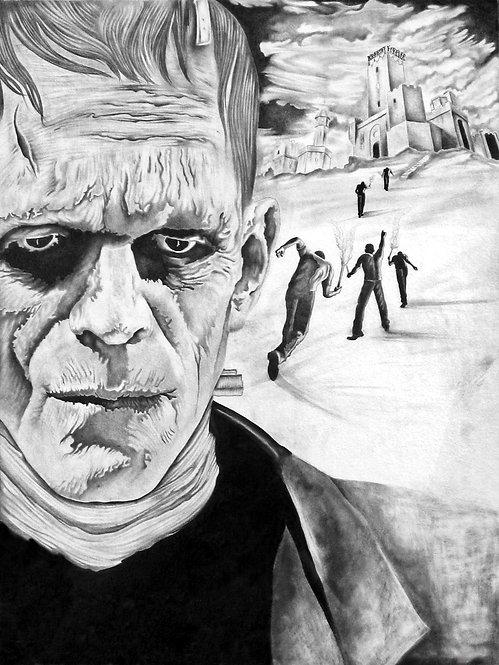 Boris Karloff Frankenstein's Monster Drawing