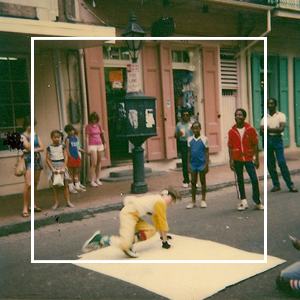 Break dancing in New Orleans 1983 with the Kamakazi crew.