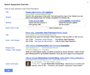 Search Appearance Overview Google