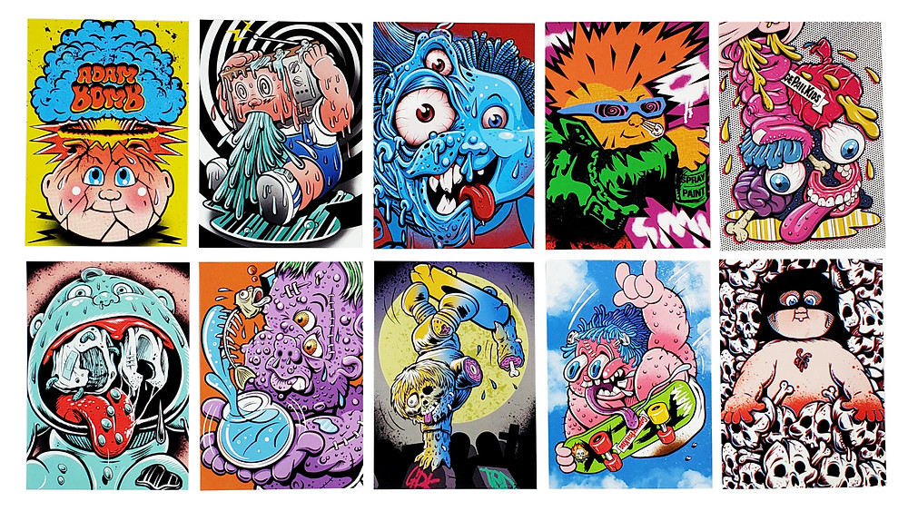 2020 Garbage Pail Kids Skateboard Sticker Set