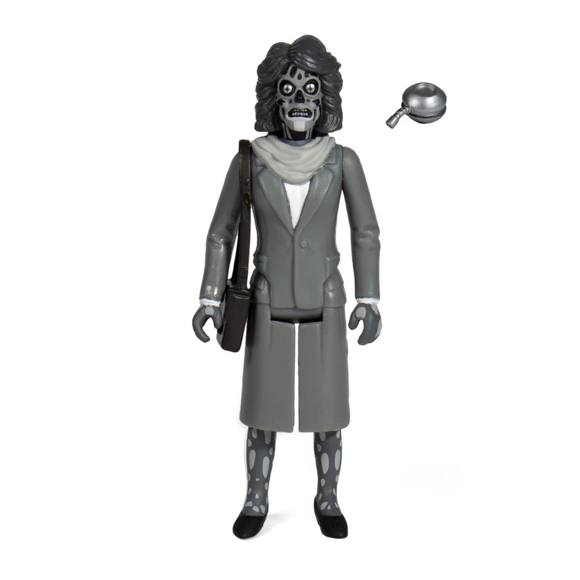 Black and White Super 7 They Live Female Ghoul ReAction Figure