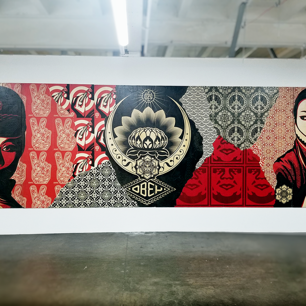 Obey at the Beyond the Streets Graffiti Exhibition Los Angeles 2018
