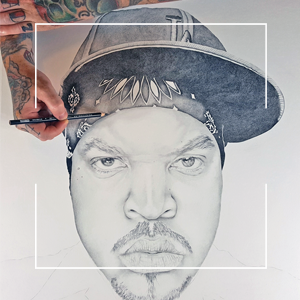 Original NWA Ice Cube Drawing