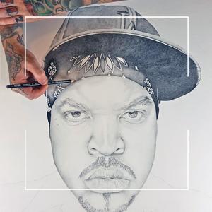 Original NWA Ice Cube Drawing