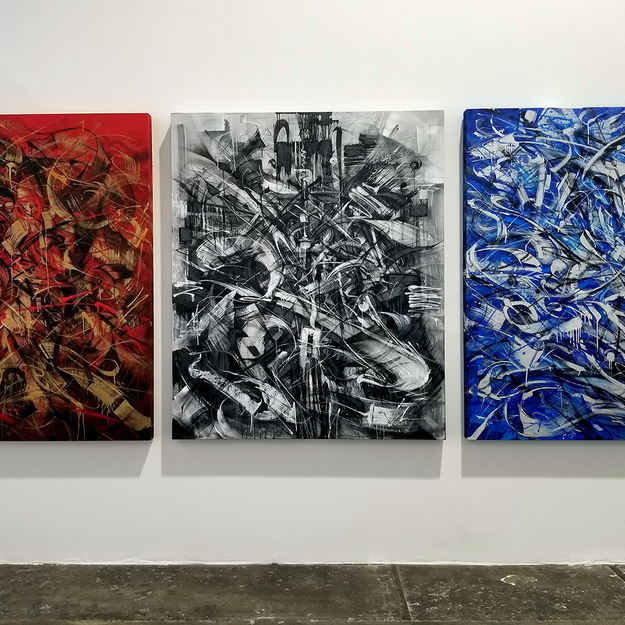 SABER at the Beyond the Streets Graffiti Exhibition Los Angeles 2018