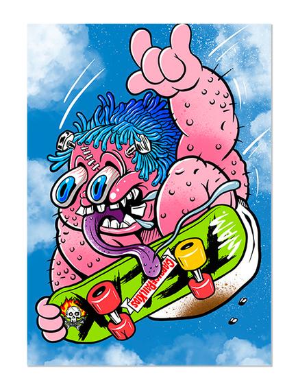 GPK Hot Rod Skateboard Card