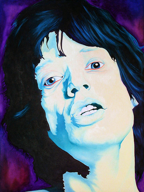 Mick Jagger Oil Painting