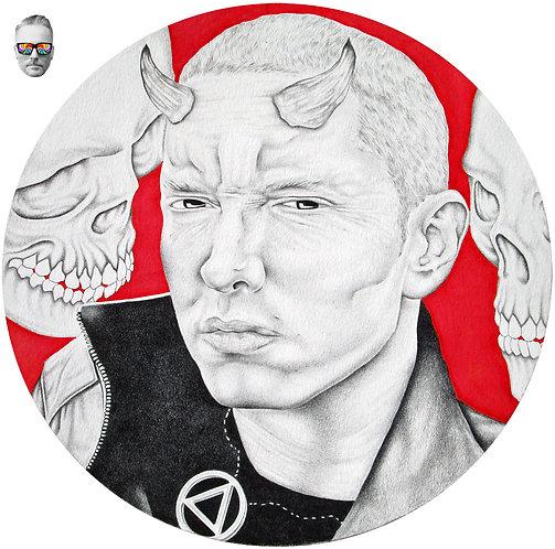 White Devil Eminem Drawing