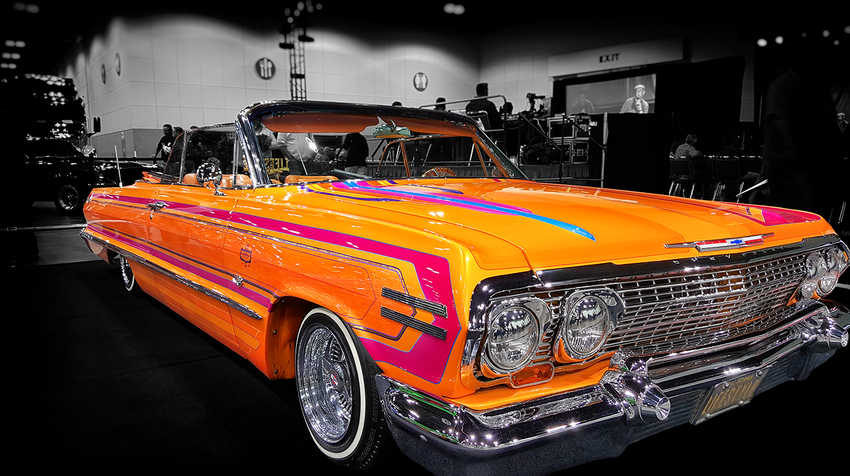 Classic Pinstriped Lowrider with Adobe Post-Production