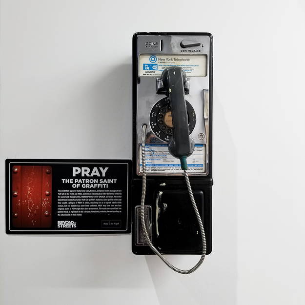 PRAY Installation at the Beyond the Streets Graffiti Exhibition Los Angeles 2018
