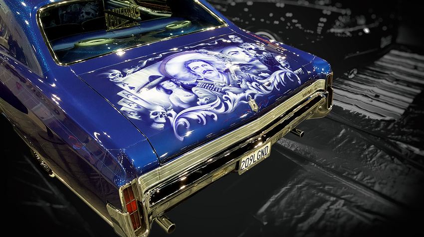 Classic Airbrushed Lowrider with Adobe Post-Production