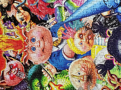 😱 1000 Piece Garbage Pail Kids Yuck Puzzle Reactions