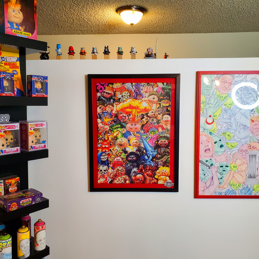 GPK Puzzle Framed In Studio
