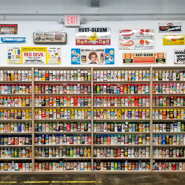 Vintage Spray Can Collection at the Beyond the Streets Graffiti Exhibition