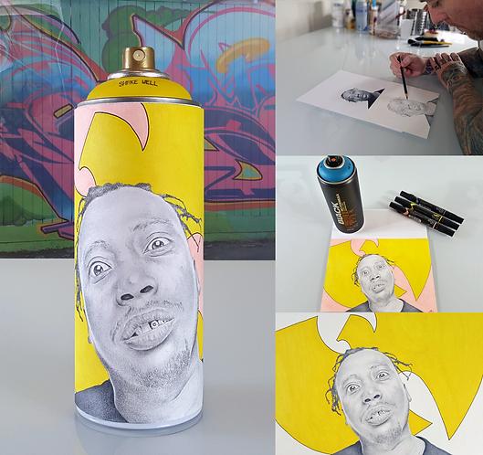 Graffiti Spray Can Portrait Collectibles