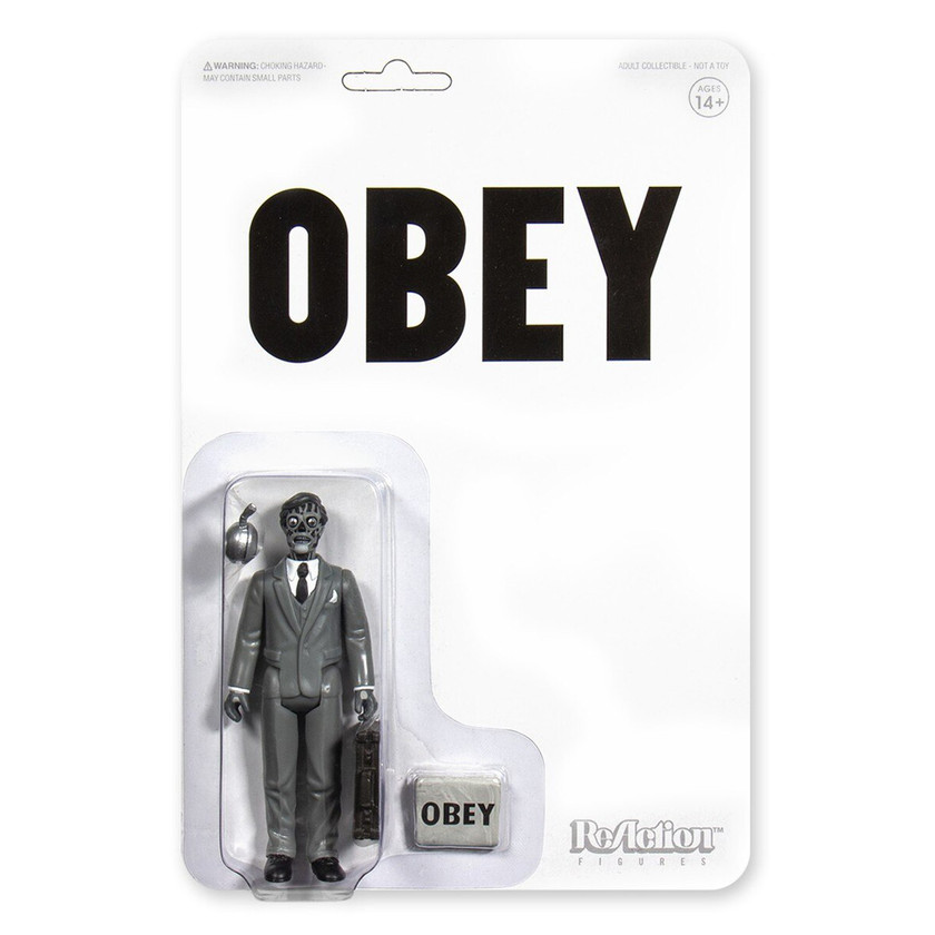 Black and White Super 7 They Live Male Ghoul ReAction Figure