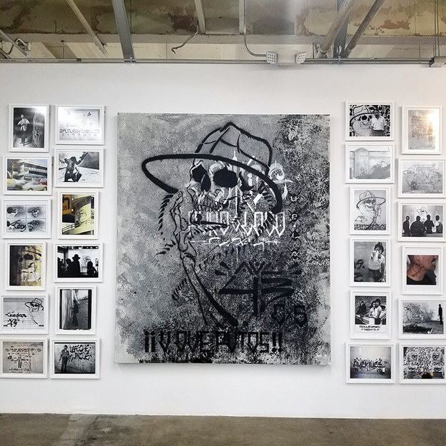 Chaz Bojorquez at the Beyond the Streets Graffiti Exhibition Los Angeles 2018