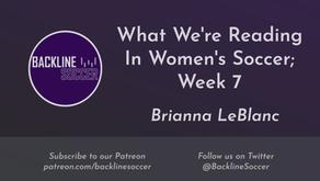 What We're Reading In Women's Soccer; Week 7