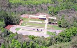 Vist aérea do Centro de Visitantes