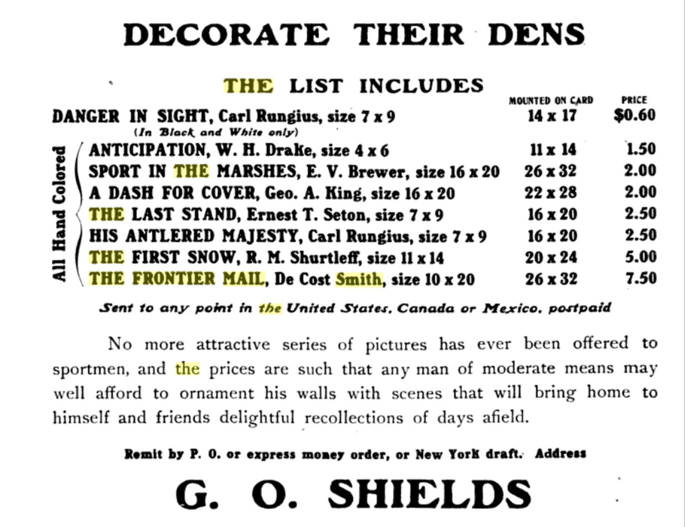 Decorate Their Dens