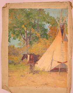 Lodge on Crow Reservation