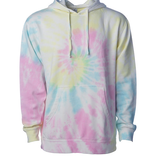 UNISEX MIDWEIGHT TIE DYE HOODED PULLOVER