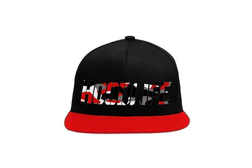 HoodLife™ Red/Black Snapback Red Camo Logo