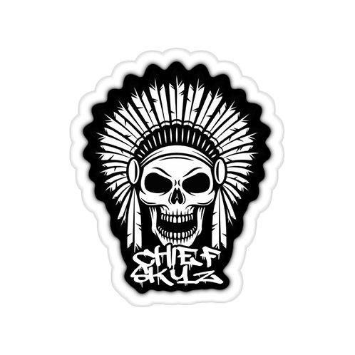 Chief Skyz Native Skull Stickers