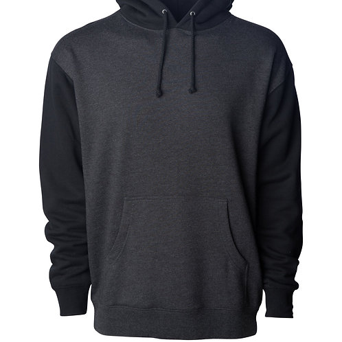 INDEPENDENT HEAVYWEIGHT HOODED PULLOVER TWO TONE SWEATSHIRT
