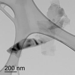 TEM image of graphene sheets