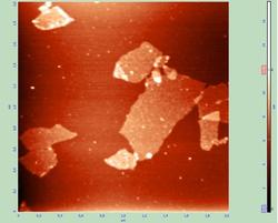 ASM image of graphene sheets