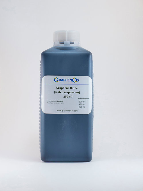 Dispersion in Water: Single Layer Graphene Oxide (250 ml)