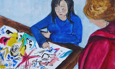 art therapy for adults and children, trauma, anxiety, loss and relationship difficulties