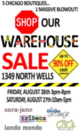 Wearhouse Sale August 26 & 27