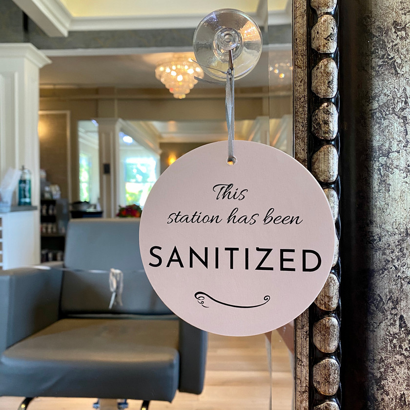 DeCola Hair stations sanitized