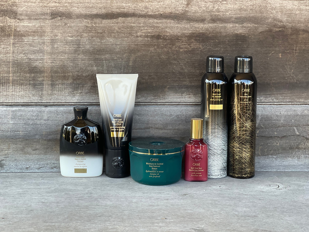 Oribe hair extension products at DeCola Salon
