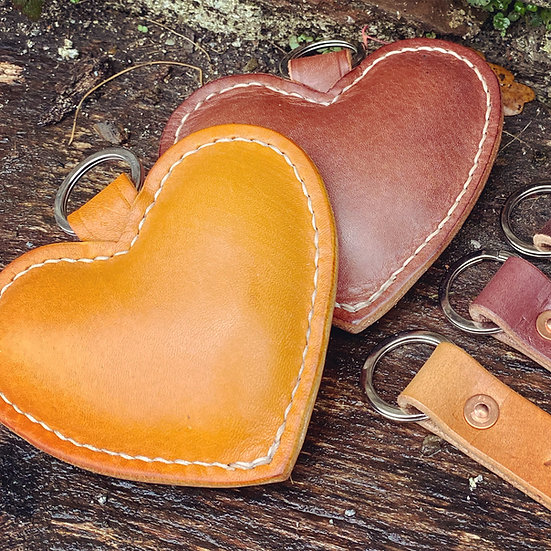 Stuffed Heart Key rings